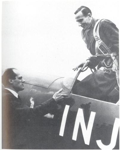Messserschmidt (left), Wendel (right) test pilot
