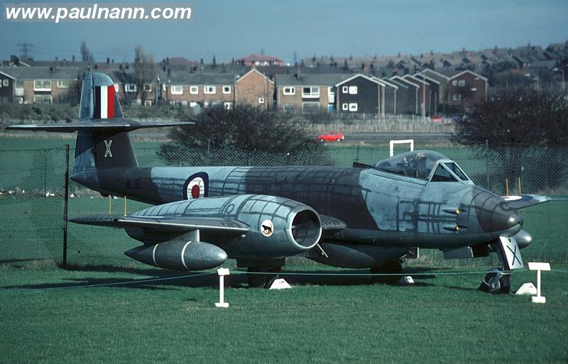 Gloster Meteor of the North East Aircraft Museum