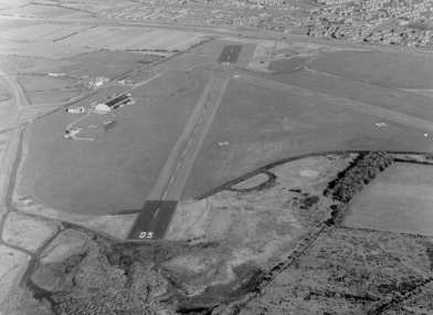 Aerial view of Usworth (Sunderland) airfield